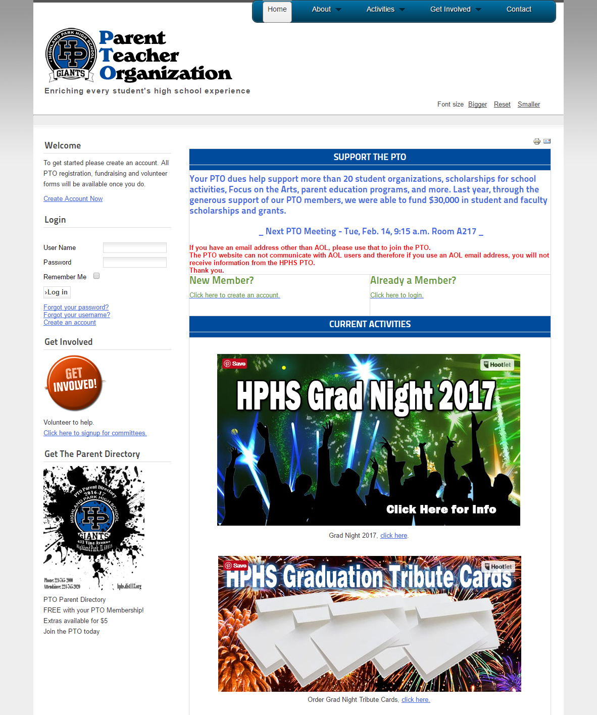 intrackt_hphs_pto_home
